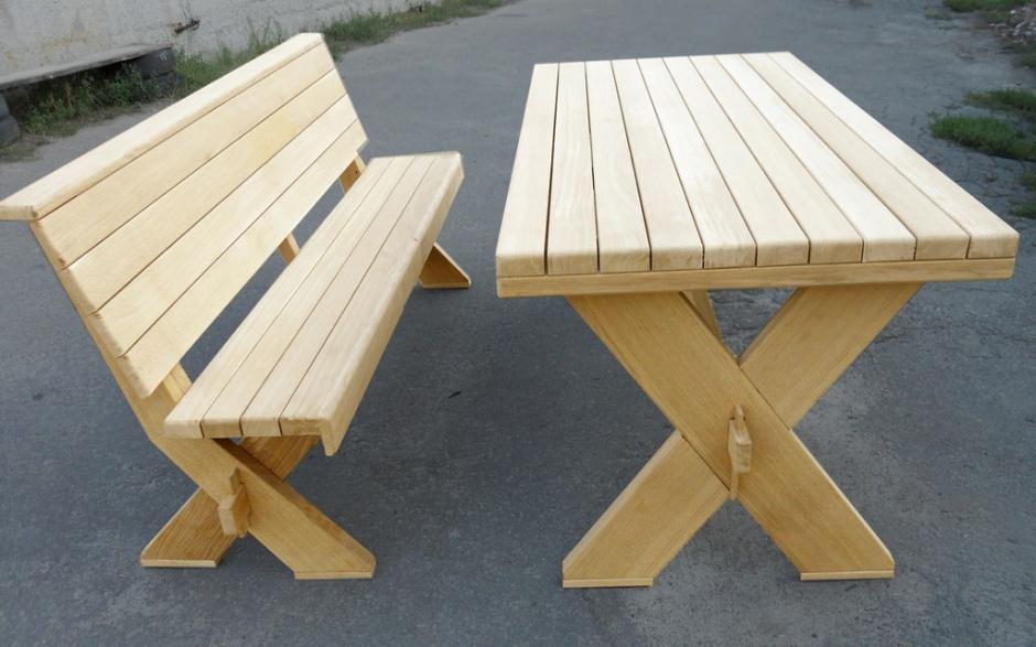 Столы для беседки садовые своими руками 210
